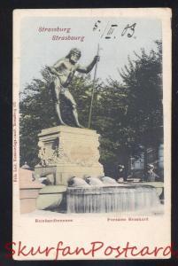 STRASSBURG REINHARDBRUNNEN FONTAINE REINHARD GERMANY VINTAGE POSTCARD