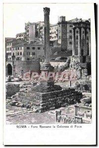 Postcard Old Roma Foro Romano Colonna di Foca