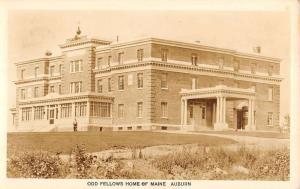 Auburn Maine Odd Fellows Home Exterior Real Photo Antique Postcard K25393