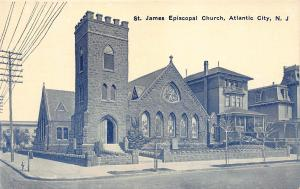 St. James Episcopal Church, Atlantic City, N.J., Early Postcard, Unused