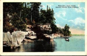 Wisconsin Lake Superior Apostle Islands West End Sand Island 1923