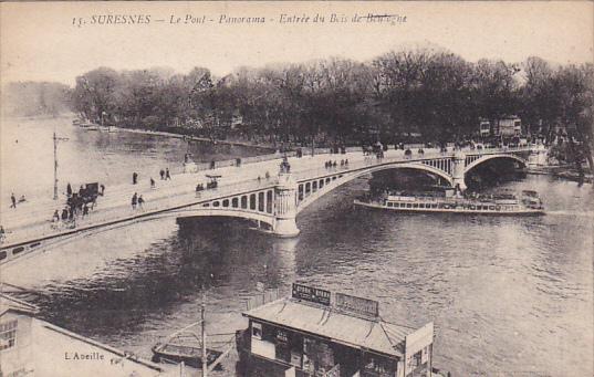 SURESNES, Hauts De Seine, France, 1900-1910's; Le Pont, Panorama, Entree Du B...