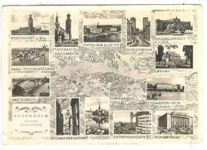 RP; Map , Stockholm , Sweden , PU-1960