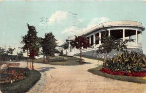Scranton Pennsylvania~Pavilion @ Rocky Glen~Young Trees in Front~1908 IPCC Pc