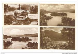 4 RP PC Lot, Views Of Lock Katrine, Trossachs, Scotland, 10-30s