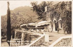 RP; Terrace Posada del Tepozteco, Tepoztlan, Morelo, Mexico, PU-1954