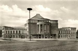 germany, WUPPERTAL-BARMEN, Opernhaus, Theater (1950s) RPPC