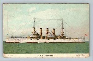 USS Louisiana Vintage c1914 Postcard
