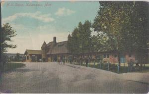 KALAMAZOO MI - MICHIGAN CENTRAL RAILROAD DEPOT 1910s era view