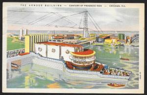 Chicago Worlds Fair 1933-1934 The Armour Building Chicago Illinois Unused c1934