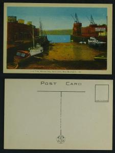 Low tide Market slip Saint John NB  c 1950