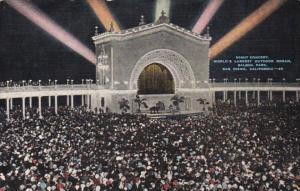 California San Diego Night Concert World's Largest Outdoor Organ Balboa Park