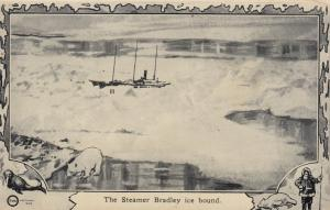 NORTH POLE, 1900-10s; The Steamer Bradley ice bound