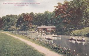 Boat House And Lagoon, Washington Park, SPRINGFIELD, Illinois, 1900-1910s