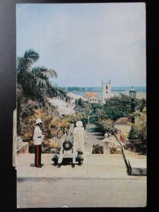 Bahamas: NASSAU Columbus Statue & Christchurch Cathedral c1960