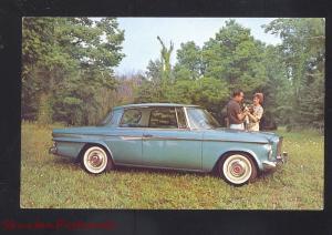 1962 STUDEBAKER LARK DAYTONA '62 VINTAGE CAR DEALER ADVERTISING POSTCARD