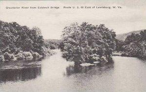 West Virginia Lewisburg Greenbrier River From Caldwell Bridge Albertype