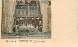 Grotte de la Nativite (Nativité) Bethléem Palestine Entier Arrière Carte Postale