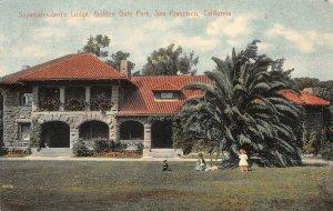 Superintendent's Lodge, Golden Gate Park, San Francisco CA 1908 Vintage Postcard