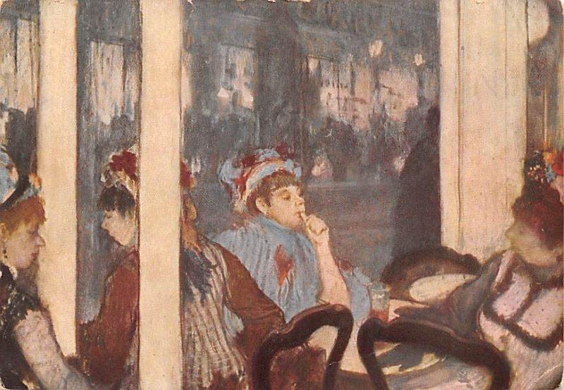 Edgar Degas, A Caf??,Edgar Degas Unused