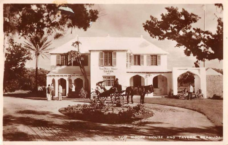Bermuda Tom Moore House and Tavern Real Photo Vintage Postcard JE229518