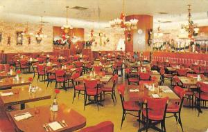 Hollywood California dining room Tick Tock Restaurant vintage pc ZA440646