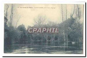The Banks of lOrne Old Postcard Saint Andre near Caen Landscape