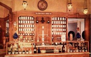 CA - Anaheim. Disneyland. Upjohn Pharmacy, 19th Century Prescription Counter