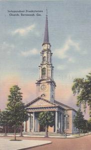 Independent Presbyterian Church - Savannah GA, Georgia - pm 1949 - Linen