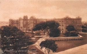 Presidency General Hospital, Calcutta, India, Early Postcard, Used