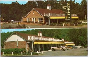 postcard WV - Colonial Court - A Motel of Distinction - building and cars