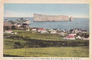 Perce Rock and Village from South West, Province of Quebec, Canada, 10-20s