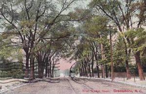North Carolina Greensboro West Market Street 1913