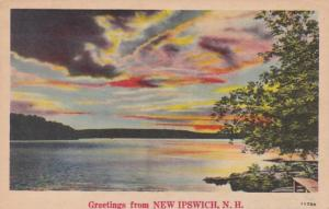 New Hampshire Greetings From New Ipswich 1946
