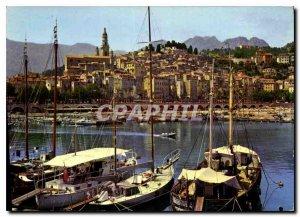 Modern Postcard The wonderful sites of the French Riviera Menton Alpes Mariti...
