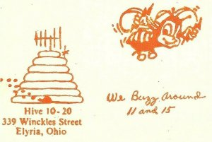 Vintage QSL Postcard  KHJ 7404  Elyria, Ohio  Howard Lucy Barton  -T-