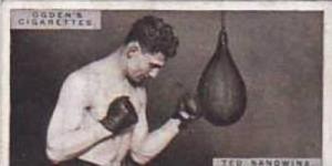 Ogdens Vintage Cigarette Card Pugilists In Action 1928 No 37 Ted Sandwina