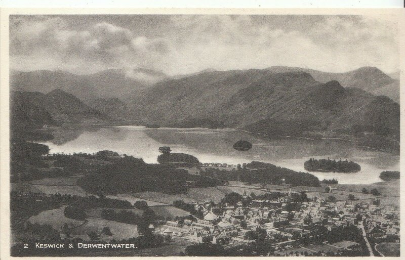 Cumbria Postcard - Keswick and Derwentwater     X69