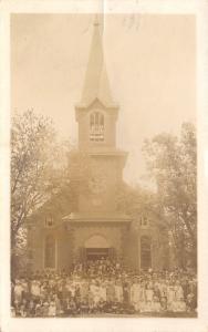 Cokato Minnesota~Stockholm Swedish Lutheran Church~Congregation~1916 RPPC