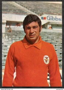 p249 - Portugal JOSE HENRIQUES Postcard 1970s Benfica Lisboa Soccer Player
