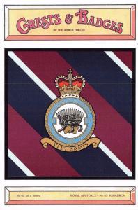 Postcard RAF Royal Air Force No.65 Squadron Crest Badge No.63 NEW