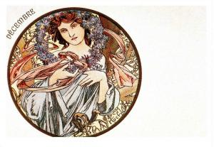 Decembre by Alphonse Mucha (Repro)