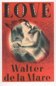 Love Walter De La Mare 1943 Book Postcard