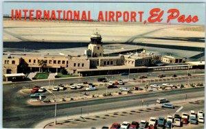 EL PASO, Texas TX   Birdseye EL PASO INTERNATIONAL AIRPORT c1960s  Postcard
