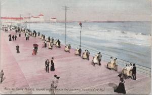 Rolling Chair Parade Atlantic City NJ New Jersey c1909 Ottenhelmer Postcard E48