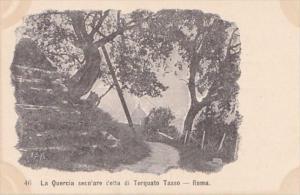 Italy Rome La Quercia seco'are cetta di Torquato Tasso