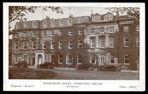 dc1972 - SCOTLAND Edinburgh Postcard 1910s Roxburghe Hotel. Charlotte Square