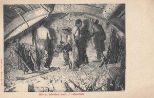 Mineurarbeiten beim Friststollen , Switzerland , 1900-10s