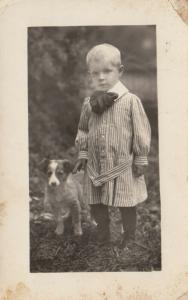 RP; A Boy and his dog, 1910s