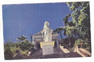 Columbua Statue, Government House, Bahamas, PU-1956